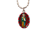 Saint Servatius Medal - Hand-Painted on imported Italian Silver by Saints For Sinners