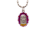 Shroud of Jesus Medal Necklace - Hand-painted on imported Italian Silver by Saints For Sinners