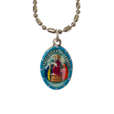 Our Lady of Pompeii Medal - Hand-Painted on imported Italian Silver by Saints For Sinners