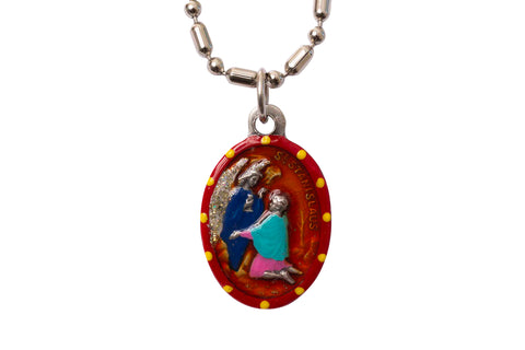 Saint Stanislaus Medal - Hand-Painted on imported Italian Silver by Saints For Sinners