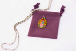 Stella Maris Medal Necklace - Hand-painted on imported Italian Silver by Saints For Sinners