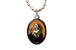 Saint Stephen Medal - Hand-Painted on imported Italian Silver by Saints For Sinners