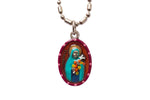 Saint Therese of Lisieux Medal - Hand-Painted on imported Italian Silver by Saints For Sinners