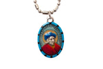 Saint Thomas More Medal - Hand-Painted on imported Italian Silver by Saints For Sinners