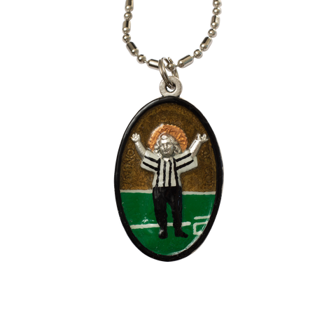 Touchdown Jesus - Hand-Painted on Italian Silver by Saints For Sinners