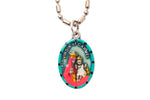Our Lady of Mount Carmel Medal - Hand-Painted on imported Italian Silver by Saints For Sinners
