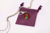 Our Lady of Loretto Medal - Hand-Painted on imported Italian Silver by Saints For Sinners