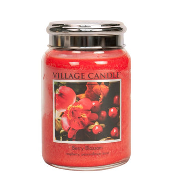 Berry Blossom Large Glass Jar Metal Lid