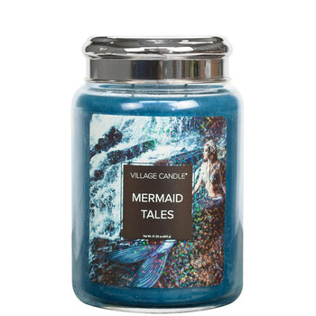 Mermaid Tales Large Glass Jar Fantasy