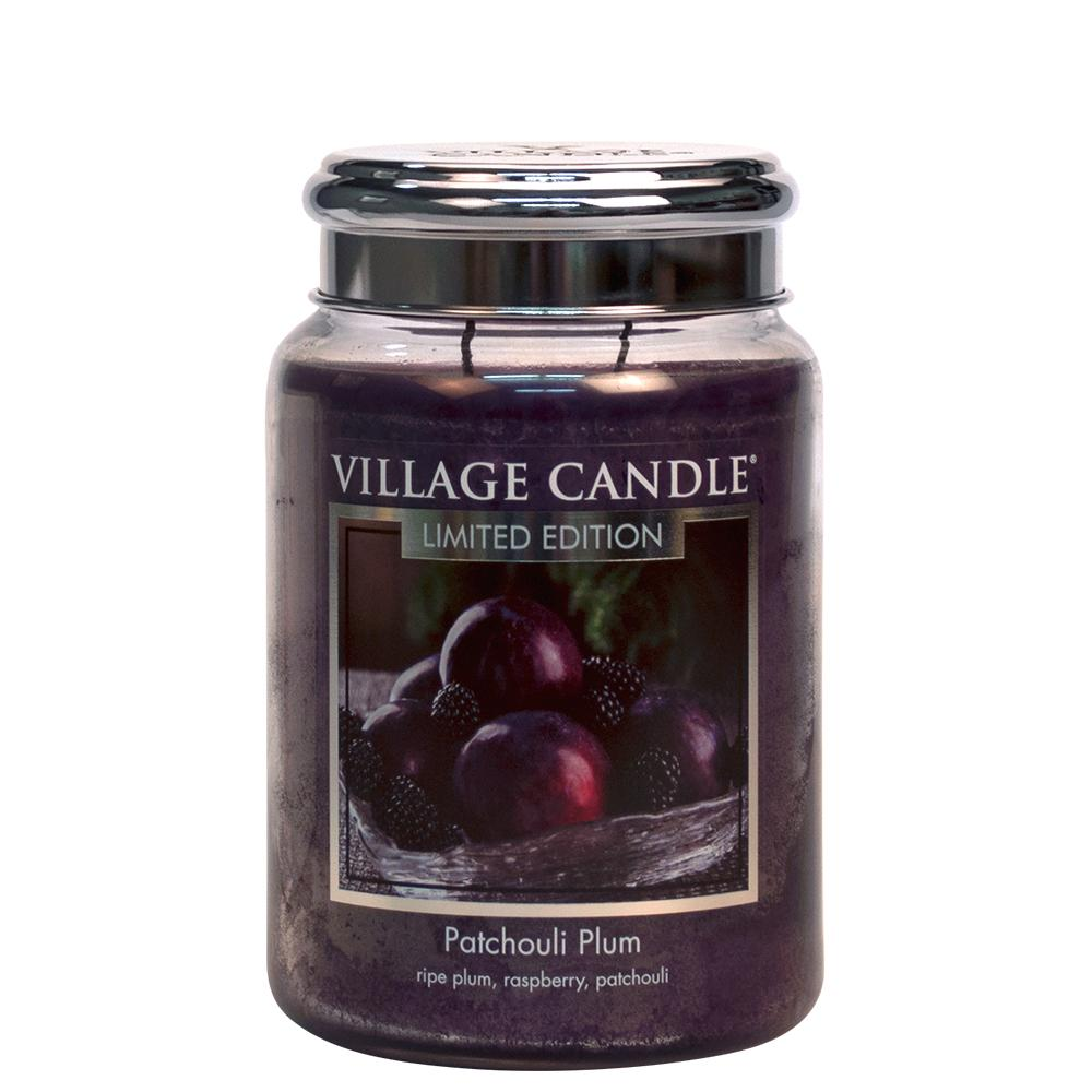 Patchouli Plum Large Glass Jar Limited Edition ML