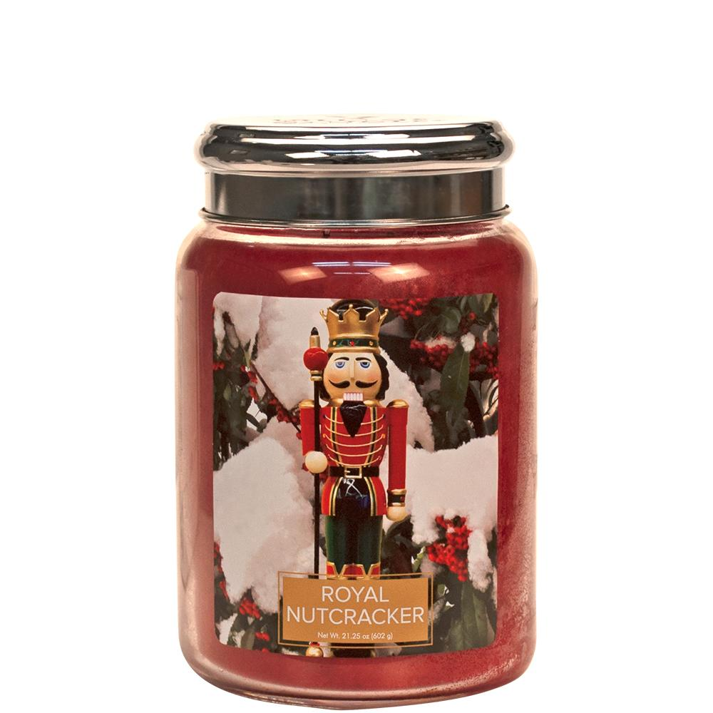 Royal Nutcracker Large Glass Jar Christmas