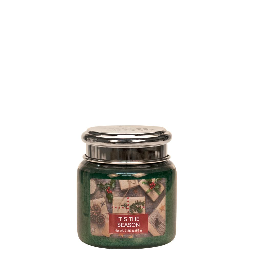 Tis the Season Petite Glass Jar Christmas