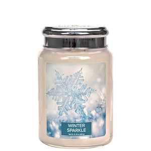 Winter Sparkle Large Glass Jar Christmas