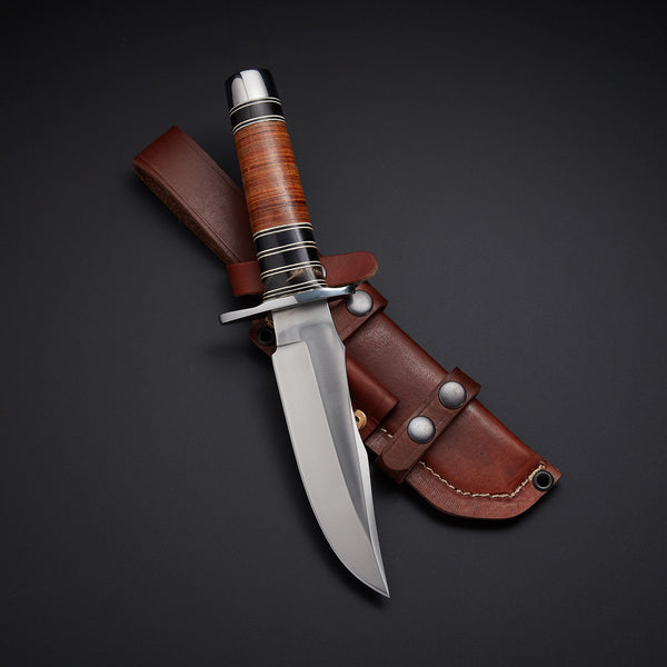 |Knives Hub| Custom Handmade Hunting Bowie Knife With Leather Sheath