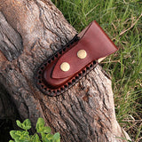 |Knives Hub| HANDMADE TEXAS FOLDING KNIFE WITH LEATHER SHEATH