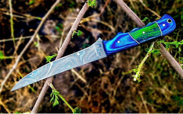 |Knives Hub| Custom Handmade Flexible Damascus Steel Fillet knife