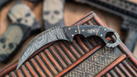 Beautiful Handmade Damascus Steel Krambit Knife With Original Leather Sheath