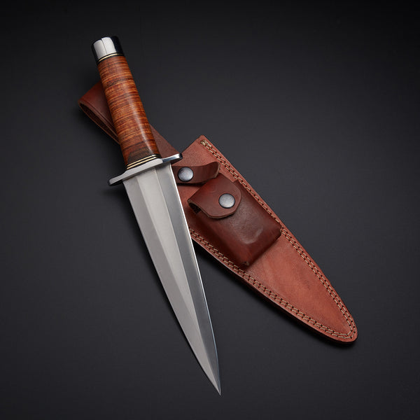 Custom Handmade Hunting Dagger Knife With Leather Sheath....Knives Hub