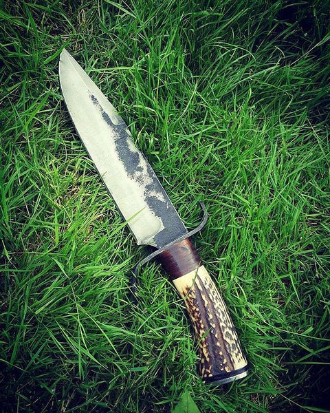 1095 Carbon Steel Bowie Hunting Knife