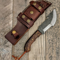 |Knives Hub| Custom Handmade Tracker Knife With Leather Sheath