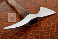 Custom Handmade D2 Steel Tomahawk Axe With Leather Sheath