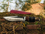 |Knives Hub| Custom Handmade Hand Forged 1095 Steel Hunting Knife With Leather Sheath