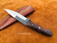 Custom Hand Forged Skinner Knife With Leather Sheath