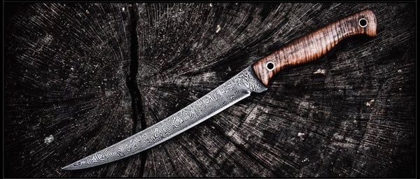 Custom Damascus Fillet Boning Knife