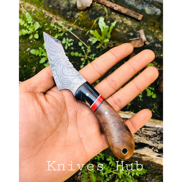 Custom Handmade Damascus Steel Skinning Knife