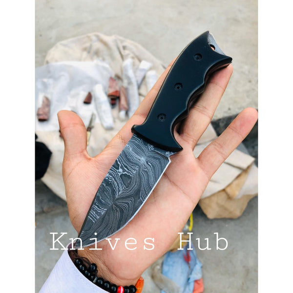 |Knives Hub| Custom Handmade Damascus Steel Hunting Knife