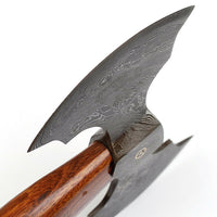 |Knives Hub| Viking Blade  Hand Forged Damascus Steel Axe Comes With Leather Sheath