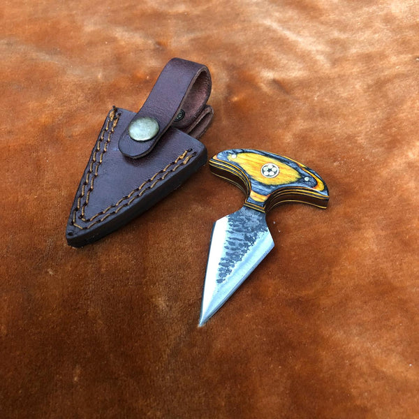 Handmade Dagger Knife With Leather Sheath....Knives Hub