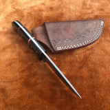 Handmade Damascus Steel Skinner Knife With Leather Sheath....Knives Hub
