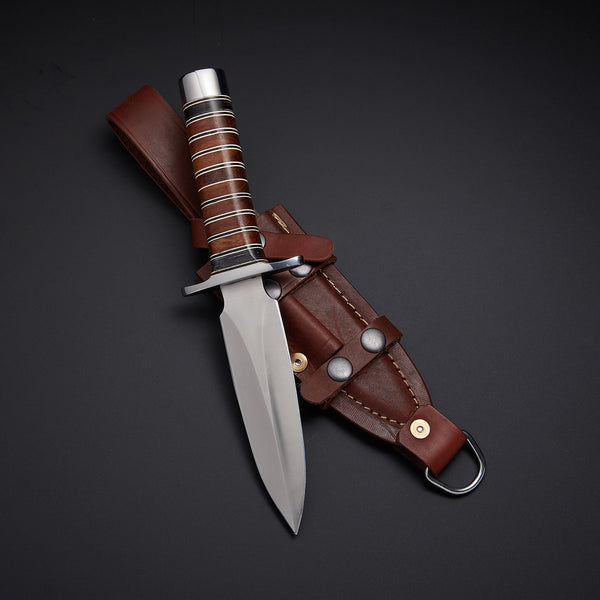 |Knives Hub| Custom Handmade Hunting Dagger Knife With Leather Sheath