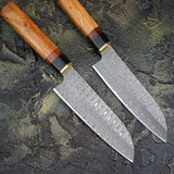 Chef Knife Japanese Santok Kitchen Knives Home Cooking Tools Leather Scabbard......Knives Hub