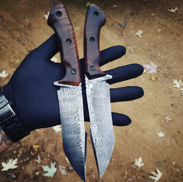 |Knives Hub| Custom Handmade Damascus Steel Tanto Knife