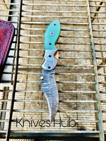 Handmade Damascus Steel Folding Pocket Knife