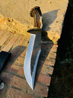 Handmade Hunting Bowie Knife With Leather Sheath....Knives Hub