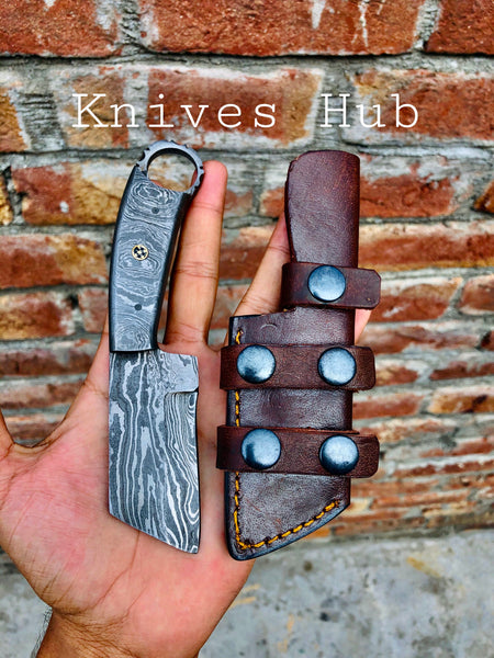 Custom Handmade Full Damascus Steel Skinner Knife....Knives Hub