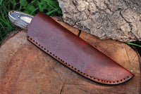 Custom Handmade  Hunting Knife With Leather Sheath