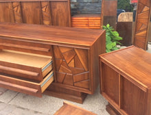 Load image into Gallery viewer, REFINISHED MCM Walnut Brutalist Bedroom SET in Paul Evans style, perfect - Mid Century Modern Toronto