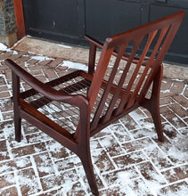 Load image into Gallery viewer, REFINISHED Danish MCM Solid Teak Lounge Chair PERFECT