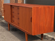 Load image into Gallery viewer, REFINISHED Danish MCM Teak Sideboard by IB Kofod-Larsen for Clausen and Son