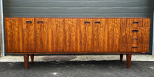 Load image into Gallery viewer, REFINISHED Danish MCM Brazilian Rosewood Sideboard Credenza 79""