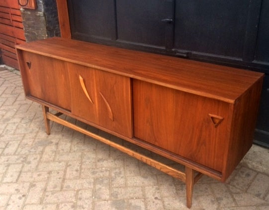REFINISHED MCM  Walnut Bar Sideboard or Media Console 70