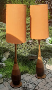 Set of 2 large Mid Century Modern  floor lamps
