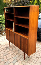 "Load image into Gallery viewer, Restored Danish Modern Rosewood Bookcase Display Bar by Poul Hundevad, 54"" x 12"" x H 63"" - Mid Century Modern Toronto"