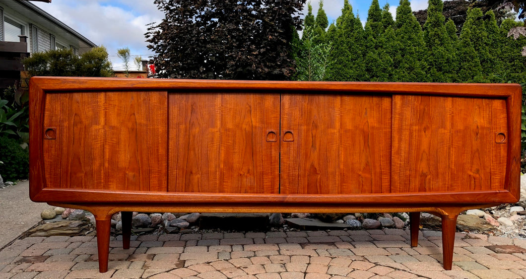 REFINISHED Danish MCM Teak Credenza by B. Pedersen 78.5