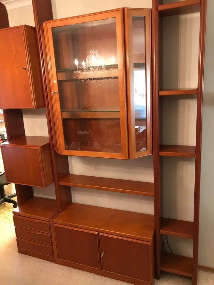 Restored MCM Modular Wall System w Storage & Display