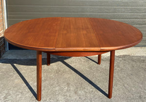 REFINISHED MCM Teak Extension Table & 6 Chairs by Elliotts of Newbury will be REUPHOLSTERED, Perfect